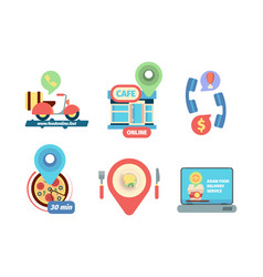 ordering food icon business delivery from vector image