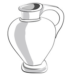 Painting a white jugpitcher or color vector