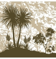 Palms Plant and Abstract Background vector