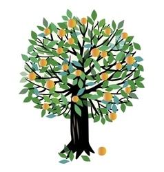 Peach or Orange tree vector