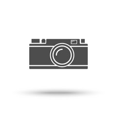 rangefinder camera icon isolated on white vector image