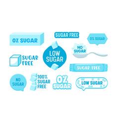 Set 100 percent zero sugar free icons badges vector