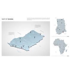 Set ghana country isometric 3d map ghana map vector
