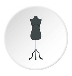 Sewing mannequin icon circle vector