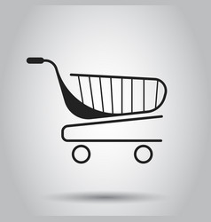 shopping cart icon flat business concept simple vector image