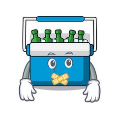 Silent freezer bag mascot cartoon vector