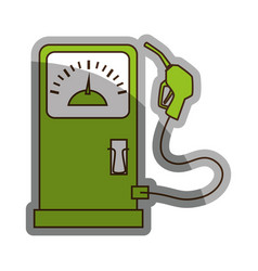 station service fuel isolated icon vector image