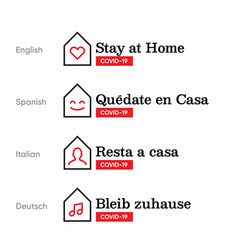 stay home design logo in different vector image