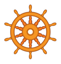 Steering wheel a ship boat and yacht vector