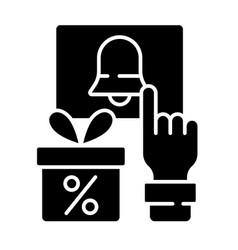 Subscription program black glyph icon vector