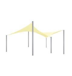 Sun shade triangle umbrella vector