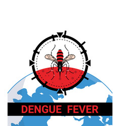 target on mosquito stop dengue fever vector image