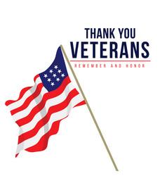 Thank you veterans template design vector