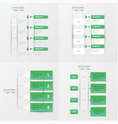 timeline design 4 item green gradient color vector image