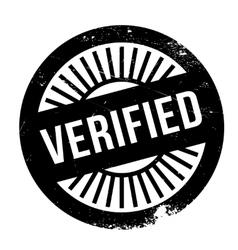 Verified stamp rubber grunge vector