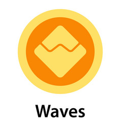 Waves icon flat style vector