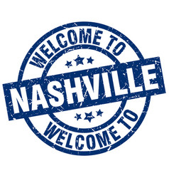 Welcome to nashville blue stamp vector