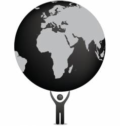globe and icon figure vector image vector image