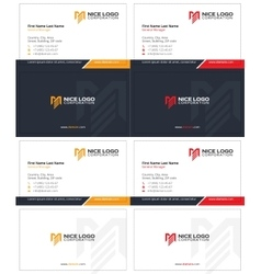 me logo business card 1 vector image vector image