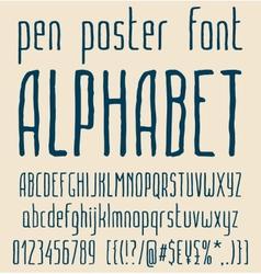 Sans-serif hand-drawn elegant pen poster minimal vector image