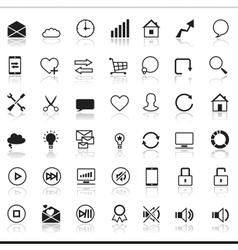 Set of 42 SEO internet icons vector image vector image