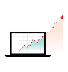 computer graph growth vector image