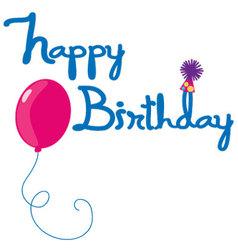 happy birthday letters vector image