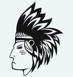 Portrait of american indian vector image vector image