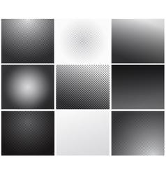 Set of transparency grid backgrounds vector image