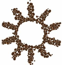 symbol of coffee sun vector image vector image