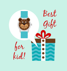 best clocks gift for kid vector image vector image