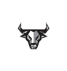 Bull Cow Head Low Polygon vector image vector image