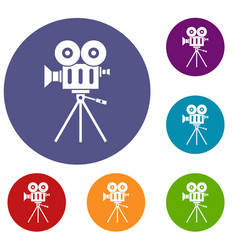 camcorder icons set vector image vector image