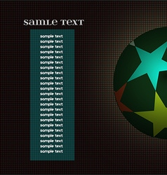 Champions league ball with information text board vector image