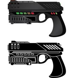 futuristic pistol vector image