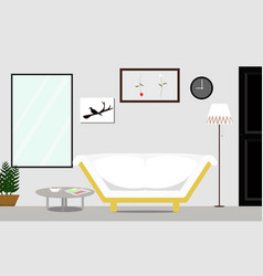 loft style interior of the living room with white vector image