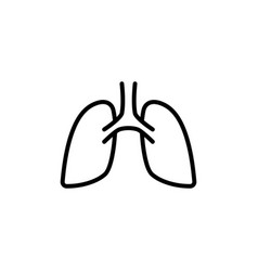 lungs icon on white background vector image vector image