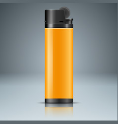 realistic lighter with reflect on the grey vector image