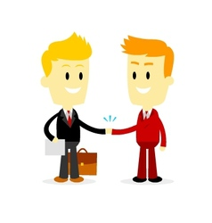 Two Businessman making a deal vector image vector image