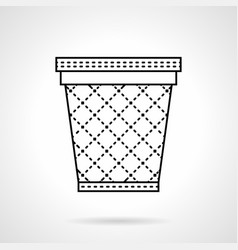 bin for paper flat line icon vector image