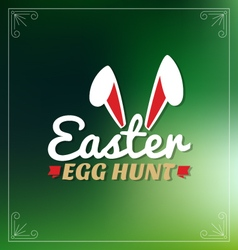 Easter egg hunt lettering greeting card vector