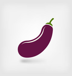 eggplant vegetable symbol vector image vector image