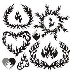 flame silhouettes vector image