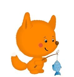 fox 1 vector image