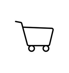 line shopping card trolley icon vector image vector image