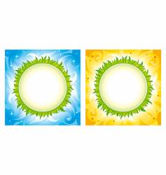 planet backgrounds vector image vector image