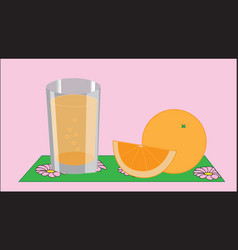 A glass with juice vector