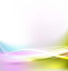abstract bright and flow wave background vector image vector image