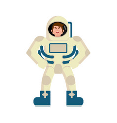 astronaut angry emoji spaceman aggressive emotion vector image