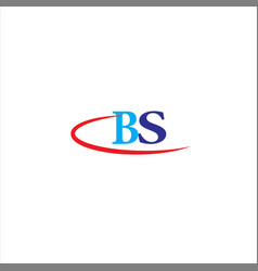 B s joint letter logo abstract design vector